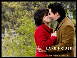 poca�unek, m�czyzna, Sandra Bullock, The Lake House, park